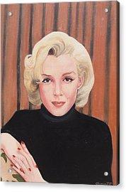 Portrait Of Marilyn Acrylic Print