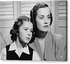 Portrait Of Mother & Daughter Acrylic Print by George Marks