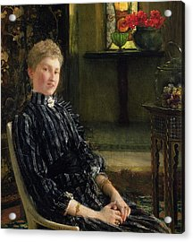 Portrait Of Mrs Ralph Sneyd Acrylic Print by Sir Lawrence Alma-Tadema