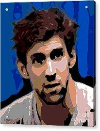 Portrait Of Phelps Acrylic Print by George Pedro