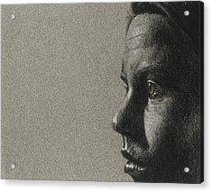 Portrait Of S Acrylic Print by David Kleinsasser