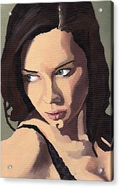 Acrylic Print featuring the painting Portrait Of Sammy Paige by Stephen Panoushek