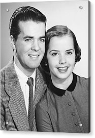 Portrait Of Teenage Couple Acrylic Print by George Marks