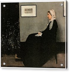 Portrait Of The Artist's Mother Acrylic Print by James Abbott McNeill Whistler
