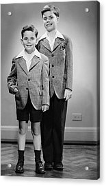 Portrait Of Two Boys Indoor Acrylic Print by George Marks