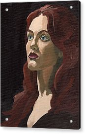 Acrylic Print featuring the painting Portrait Of Virginia P by Stephen Panoushek