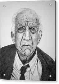 Portrait Of Wall Street Acrylic Print by Kenny Chaffin
