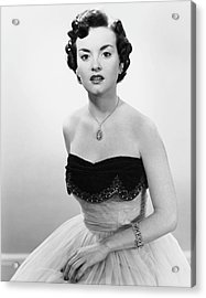 Portrait Of Woman In Evening Wear & Jewelry Acrylic Print by George Marks
