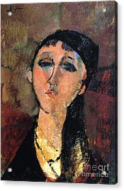 Portrait Of Young Girl  Louise Acrylic Print by Pg Reproductions