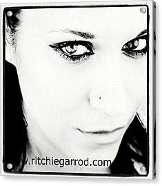 #portrait #photoshoot #bnw #headshot Acrylic Print by Ritchie Garrod