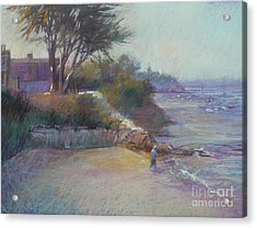 Portsea Evening Acrylic Print by Pamela Pretty