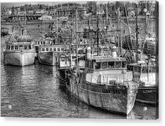 Portsmouth Fishing Fleet Acrylic Print by Ron St Jean