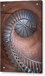 Portsmouth Harbor Lighthouse Stairwell Acrylic Print by Robert Clifford