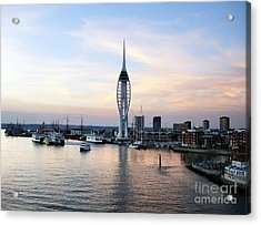 Portsmouth Waterfront Acrylic Print by Jane Rix