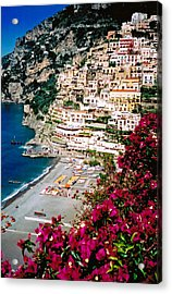 Acrylic Print featuring the photograph Positano Italy Beach by Donna Proctor