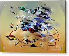 Acrylic Print featuring the digital art Possibilities by Leo Symon
