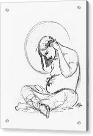 Post Annunciation Acrylic Print by Miguel De Angel