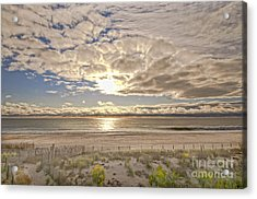 Acrylic Print featuring the photograph Post-tourist Sunrise Ocean City by Jim Moore
