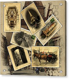 Postcards From Europe Acrylic Print by Cecil Fuselier
