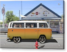 Postcards From Otis - Road Trip  Acrylic Print by Mike McGlothlen