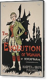 Poster Advertising The Evolution Of Acrylic Print by Everett