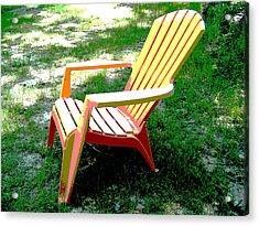 Poster Chair Acrylic Print by Regina McLeroy