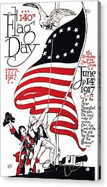 Poster For 140th Flag Day, 1777-1917 Acrylic Print by Everett
