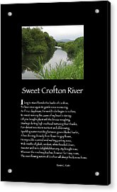 Poster Poem - Sweet Crofton River Acrylic Print by Poetic Expressions
