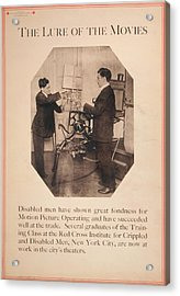 Poster Showing Disabled Man Working Acrylic Print by Everett