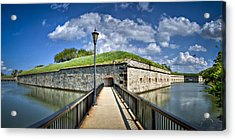 Acrylic Print featuring the photograph Postern Gate Bridge by Williams-Cairns Photography LLC
