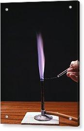 Potassium Flame Test Acrylic Print by Andrew Lambert Photography
