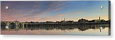 Potomac River Panorama - Washington Dc Acrylic Print by Brendan Reals