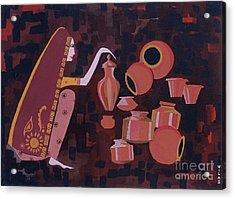 Potter Acrylic Print by Vilas Malankar