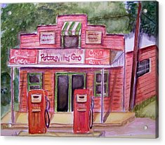Pottesville Gro. Acrylic Print by Belinda Lawson