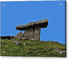 Acrylic Print featuring the photograph Poulnabrone Dolmen by David Gleeson