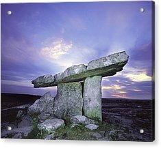 Poulnabrone Dolmen, The Burren, Co Acrylic Print
