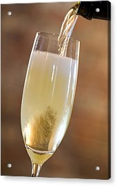 Pouring Champagne Acrylic Print by Datacraft Co Ltd