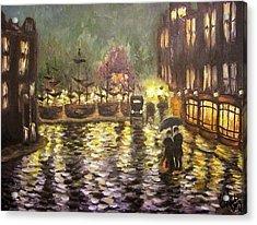 Pouring Rain Acrylic Print by Elizabeth Marks