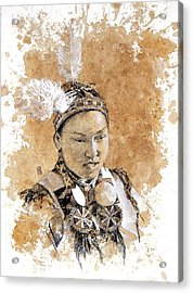 Pow Wow Girl Acrylic Print by Debra Jones
