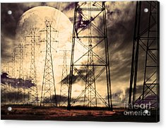 Power Grid Acrylic Print by Wingsdomain Art and Photography