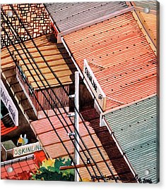Power Lines And Roofs Acrylic Print