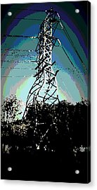 Power Tower Melting Acrylic Print by David Alvarez