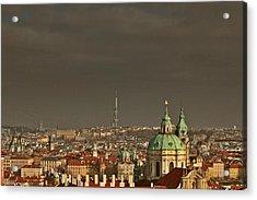 Prague - A Symphony In Stone Acrylic Print by Christine Till