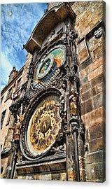 Prague Astronomical Clock Acrylic Print by Jon Berghoff