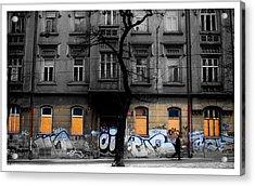 Prague Street Acrylic Print by Mark Britten