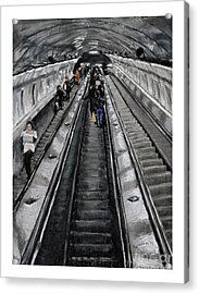 Prague Underground Acrylic Print by Barry Rothstein