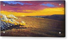 Acrylic Print featuring the painting Prairie Fire by Rod Seel