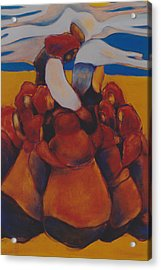 Acrylic Print featuring the painting Prairie Prayer by Irena Mohr