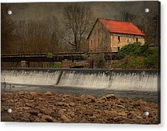 Prallsville Grist Mill And The Spillway Acrylic Print