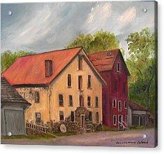 Prallsville Mills Stockton Acrylic Print by Aurelia Nieves-Callwood